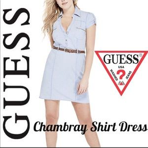 NWT/G by Guess Chambray Shirt Dress